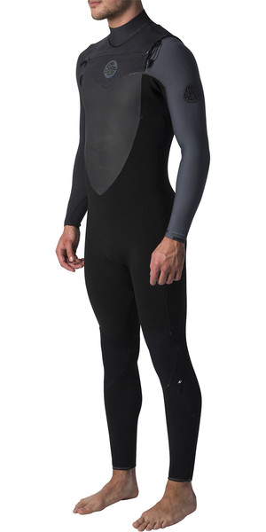2019 Rip Curl Flashbomb 3/2mm GBS Chest Zip Wetsuit BLACK / GREY WST7MF