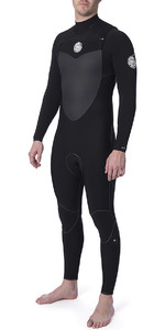 2020 Rip Curl Flashbomb 3/2mm Gbs Traje De Neopreno Con Chest Zip Negro Wst7mf
