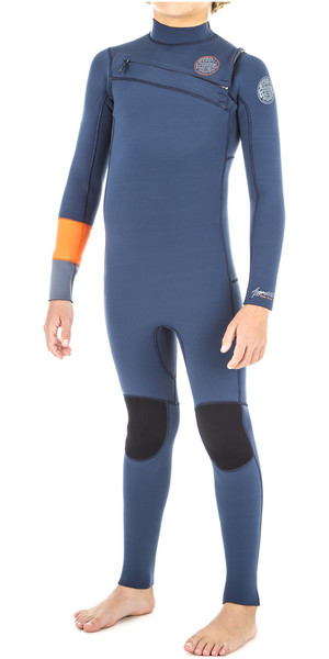 2019 Rip Curl Junior Aggrolite 5 / 3mm Chest Zip Wetsuit ARANCIONE WSM8PB