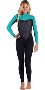 Rip Curl Womens Omega 3/2mm Back Zip GBS Wetsuit Turquoise WSM4LW