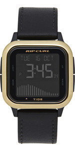 2019 Rip Curl Next Tide Leather Watch Gold A1141