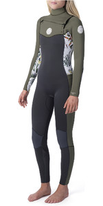 2020 Rip Curl Womens Dawn Patrol 3/2mm Chest Zip Wetsuit White WSM9CS