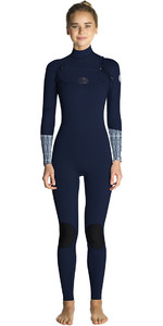 2019 Neopreno Rip Curl Flashbomb 3/2mm Mujer Con Chest Zip Azul Wst7es