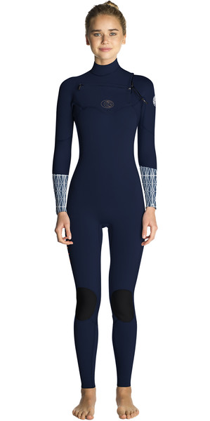 2019 Rip Curl Womens Flashbomb 4 / 3mm Chest Zip Wetsuit BLU WST7FS