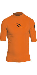 2019 Rip Curl Corpo Manches Courtes Uv Tee Rash Vest Orange Wle4km