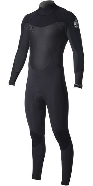 2019 Rip Curl Dawn Patrol 4/3mm Back Zip BLACK WSM8EM