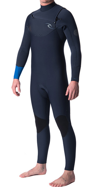 2019 Rip Curl Dawn Patrol 5 / 3mm Chest Zip Wetsuit BLU WSM7GM