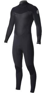 2018 Rip Curl Dawn Patrol 3 / 2mm GBS Tilbage Zip Wetsuit BLACK WSM7DM