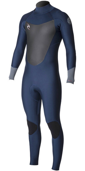 2018 Rip Curl Dawn Patrol 4/3mm GBS Back Zip Wetsuit Navy WSM7EM