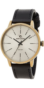 2018 Rip Curl Drake Leather Watch Old Gold A3003