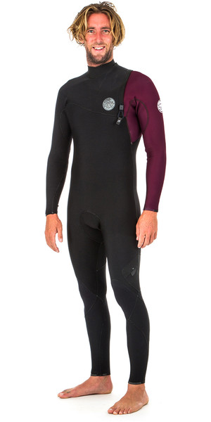 2019 Rip Curl E Bomb Pro 5/3mm Zip Free Wetsuit MAROON WSM8PE