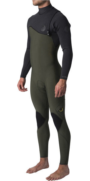 2019 Rip Curl Flashbomb 5/3mm Zip Free Wetsuit BLACK / GREEN WSM8UF