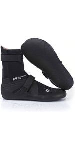 2019 Rip Curl Flashbomb 3mm Dividir Toe Neoprene Boot Preto Wbo7hf