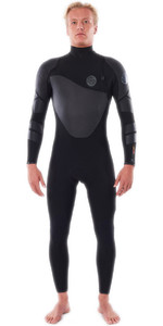 2021 Rip Curl Homens Flashbomb Heatseeker 4/3mm Zip Free Wetsuit Wstyqf - Preto