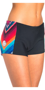Rip Curl G-Bomb Mulheres Boyleg 1mm Neoprene Shorts Preto / Cinza WSH4BW