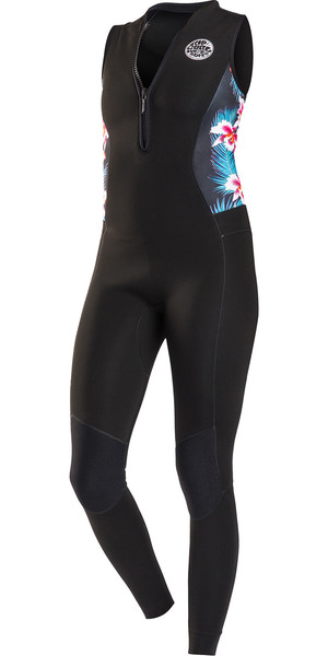 2018 Rip Curl G-Bomb Mujeres 1,5 mm Cremallera frontal Long Jane Wetsuit NEGRO Sub WSM6AS