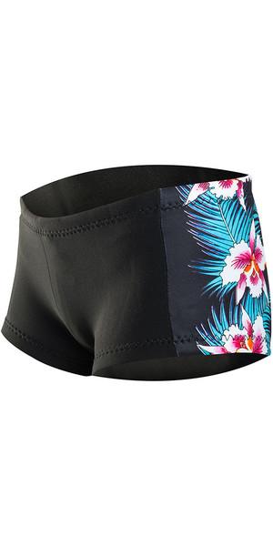 2018 Rip Curl G-Bomb Mujer Boyleg 1mm Pantalones cortos de neopreno NEGRO Sub WSH4BW