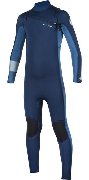 2018 Rip Curl Junior Aggrolite 4 / 3mm GBS Chest Zip Wetsuit Navy WSM7LB