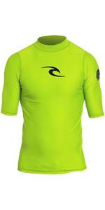 Rip Curl Kleinkind Jungen Corpo S / S UV-T-Shirt Hautausschlag Weste Kalk Wly5do