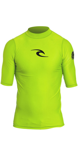 2018 Rip Curl Niños pequeños Corpo S / S UV Tee Rash Vest Lime WLY5DO