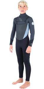 Rip Curl Junior Dawn Patrol 5 / 3mm GBS Bryst Zip Wetsuit BLACK WSM6GB