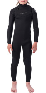 2020 Rip Curl Junior Dawn Patrol 3/2mm Chest Zip Wetsuit WSM9KB - Black / White