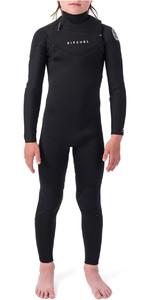 2021 Rip Curl Junior Dawn Patrol 4/3mm Chest Zip Wetsuit WSM9LB - Black