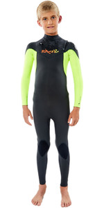Traje De Neopreno 2020 Rip Curl Junior Dawn Patrol 4/3mm Chest Zip Wsm9lb - Fluro Lemon