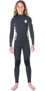 2020 Rip Curl Júnior Dawn Patrol Do Dawn Patrol 4/3 4/3mm Wetsuit Com Back Zip Wsmybs - Carvão