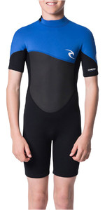 2020 Rip Curl Junior Omega 1.5mm Shorty Wetsuit WSP7FB - Blue