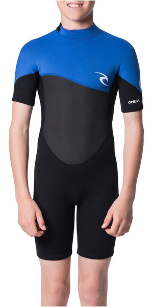 2018 Rip Curl Junior Omega 1.5mm Shorty Wetsuit Blue WSP7FB