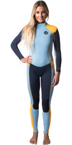 Rip Curl Womens Dawn Patrol 4/3mm GBS Back Zip Wetsuit SLATE / ORANGE WSM6FW