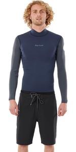 2021 Rip Curl Mens Dawn Patrol 1.5mm Reversible Eco Wetsuit Jacket WVE9CV - Slate