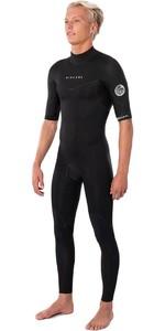 2021 Rip Curl Mens Dawn Patrol 2mm Back Zip Short Sleeve Wetsuit WSM9ZM - Black