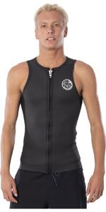 2020 Rip Curl Mens Dawn Patrol Front Zip Neoprene Vest WVE9JM - Black