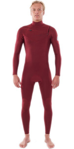 2021 Rip Curl Mænds Dawn Patrol Performance 3/2mm Chest Zip Våddragt Wsm9tm - Maroon