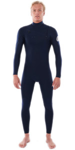 2021 Rip Curl Homens Dawn Patrol Performance 4/3mm Chest Zip Wetsuit Wsm9wm - Navy