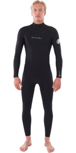 2021 Rip Curl Mens Dawn Patrol Warmth 4/3mm Back Zip Wetsuit WSM9EM - Black