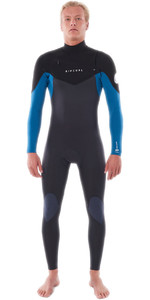 2021 Rip Curl Mens Dawn Patrol Wärme 3/2mm Chest Zip Neoprenanzug Wsm9am - Blau