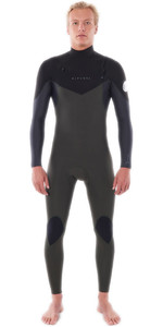2021 Rip Curl Mannen Dawn Patrol Warmte 5/3mm Chest Zip Wetsuit Wsm9gm - Donkergroen
