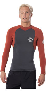2020 Rip Curl Mens E-Bomb 1.5mm Neoprene Jacket WVE8CE - Terracotta
