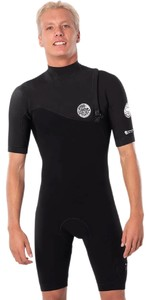 2020 Rip Curl Mens E-Bomb 2mm Shorty Wetsuit Zip Free WSP8AE - Black
