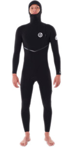 2020 Rip Curl Mens E-Bomb 4/3mm Hooded Zip Free Wetsuit WSMYFE - Black