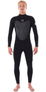 2021 Rip Curl Mens Flashbomb 4/3mm Back Zip Wetsuit WSTYLF - Black