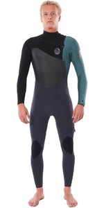 2020 Rip Curl Homens Flashbomb 4/3mm Chest Zip Wetsuit Wstynf - Verde
