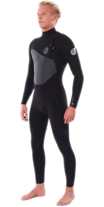 2021 Rip Curl Mens Flashbomb 3/2mm Chest Zip Wetsuit WSTYMF - Black