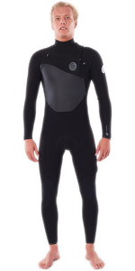 2020 Rip Curl Homens Flashbomb 4/3mm Chest Zip Wetsuit Wstynf - Preto