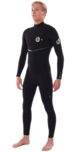2021 Rip Curl Homens Flashbomb 4/3mm Zip Free Wetsuit Wsmysf - Preto