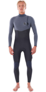 2021 Rip Curl Hommes Flashbomb 5/4mm Zip Free Combinaison Wsmyuf - Gris