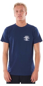 2020 Rip Curl Mannen Zoekers Uv T-shirt Wlyy4m - Navy